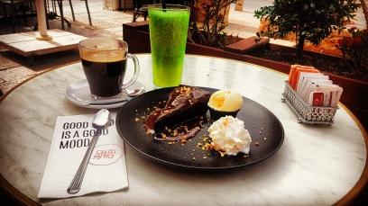 Coffee, chocolate, lemonade